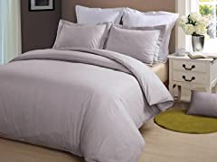 Hotel Peninsula Duvet Set-Platinum-2 Sizes