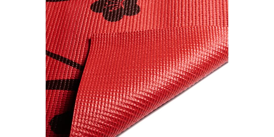 Red & Brown Cherry Blossom Yoga Mat
