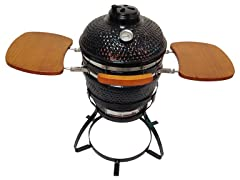 "Beacon 13"" Ceramic Kamada Grill, Black"