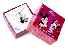 Minnie Black & White Diamond Pendant