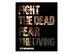 Walking Dead Fleece Throw - Fight the Dead