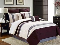 Hallmart 8pc Comforter Set - Cal King