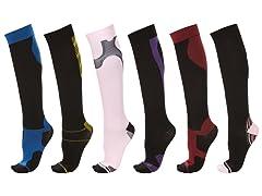 Daresay Knee High Compression Socks 6PK