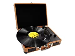 Retro Belt-Drive Turntable With USB-to-PC