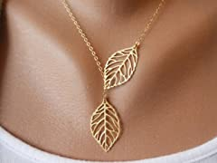 Trendy Leaves Charm Necklace