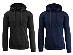 Men's Fleece Lined Pullover Hoodie 2 pk