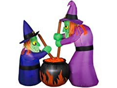 6' Two Witches and a Cauldron