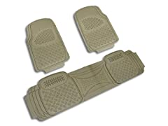 Spec-D Tuning PVC 3D Print Floor Mat - 3 Pieces