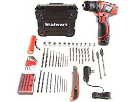 12V Lithium Ion 75 Pc 2 Speed Drill and Accessory Tool Set