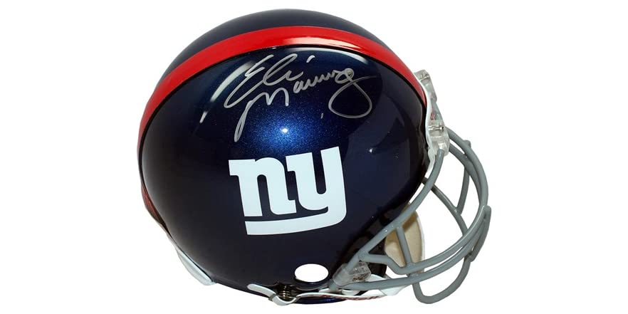 Eli Manning Signed Replica Giants Helmet f7333a81c