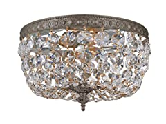 2-Light Flush Mount, English Bronze