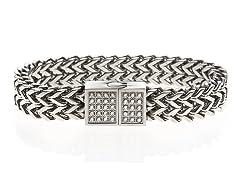Double Franco Link CZ Bracelet