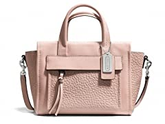 Coach Leather Bleeker Mini Pocket Crossbody Bag, Peach
