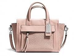 Coach Leather Bleeker Mini Pocket Crossbody Bag, Peach