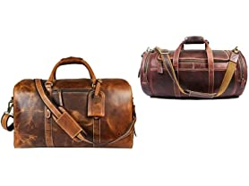 Leather Messenger and Weekend Bags