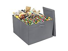 Storage Fabric Toy Bin - Grey