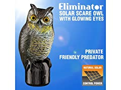 Owl Decoy - Solar Powered & Motion Activated