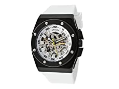 Men's Automatic White/Black Watch