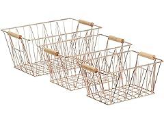 AmazonBasics Wire Storage Baskets