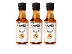 Amoretti Premium Caramel Syrups 50ml..
