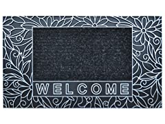 Bouquet Silver Door Mat