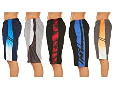 5-Pack Men's Athletic Performance Shorts
