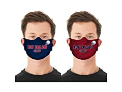 Football Reusable Face Mask 2-Pack
