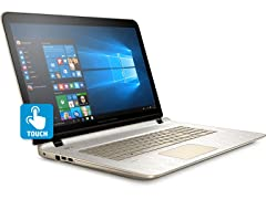 "HP 17.3"" AMD Quad-Core 1TB Touch Laptop"