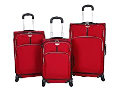 Dockers  Presidio 3-Pc Softside Luggage Set -Red