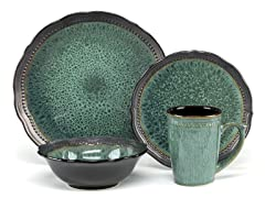 Cuisinart 16 Pc. Jenna Stoneware Set- Green