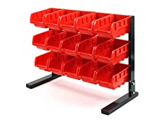 Bench Top Parts Rack, 15 Piece