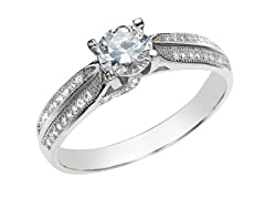 Sterling Silver Dual Row Ring