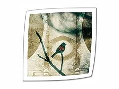 Yoga Bird - 14x14 Rolled Canvas