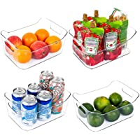 Deals on 4-Pack Vtopmart Refrigerator Organizer Bins