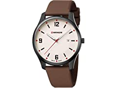 Wenger City Active Leather Men's Watch