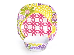 Spring Button Blooms 12-Piece Dinnerware Set