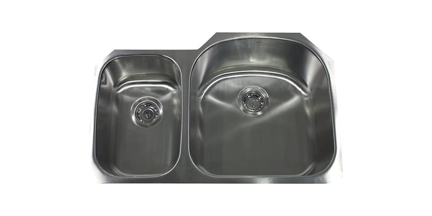31 5 double bowl undermount 16 gauge stainless steel sink