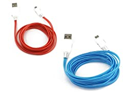 6ft Light up microUSB Charging Cable