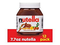 12-Pack Nutella Chocolate Hazlenut Spread, 7.7 Oz Jar