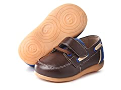 Squeaky Shoe - Parker, Brown/Navy (5-8)