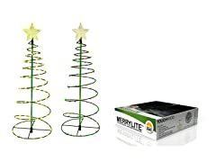 MERRYLITE Solar LED Metal Christmas Tree