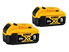 DeWALT 5.0Ah Li-Ion Battery (2-Pack)
