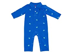 Boys Blue Polo Coverall (3-12M)