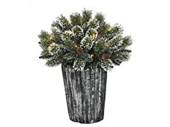 "Santa's Workshop, Inc  30"" Topiary Pot 35 LED"