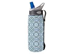 .75L Insulated Bottle Sleeve- Blue/White