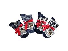 MUK LUKS® Women's 4 Pr Pk Crew Sock, Nvy