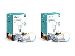 TP-Link Tunable LED Light Bulb, 2-Pack