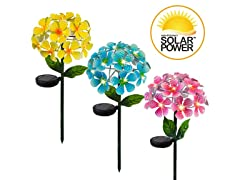 Touch of ECO Solar LED Metal Floralite