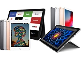 Surface, iPad, and Samsung Tablets