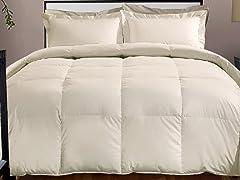 800TC Down Alternative Comforter-Ivory-3 Sizes